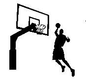 Basketball Player & Hoop v1 Decal Sticker