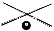 Pool Cues Decal Sticker