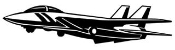 Fighter Jet 1 Decal Sticker