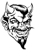 Devil Head v7 Decal Sticker