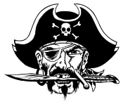 Pirate 8 Decal Sticker