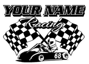 Personalized Go Kart Racing v2 Decal Sticker