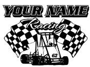 Personalized Quarter Midget Racing 1 Decal Sticker
