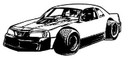 Stock Car 5 Decal Sticker