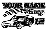 Personalized Modified Racing v3 Decal Sticker