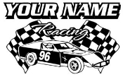 Personalized Modified Racing v4 Decal Sticker