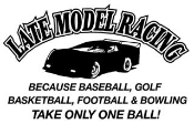 Late Model Racing Takes Balls Decal Sticker