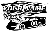 Personalized Late Model Racing v2 Decal Sticker