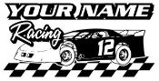 Personalized Late Model Racing v5 Decal Sticker