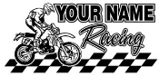 Personalized Motocross Racing v3 Decal Sticker