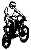 Motocross Racer v6 Decal Sticker