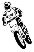 Motocross Racer v10 Decal Sticker