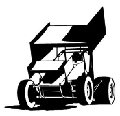 Sprint Car Front View v4 Decal Sticker
