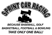 Sprint Car Racing Takes Balls Decal Sticker