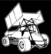 Sprint Car Rear View v2 Decal Sticker