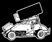 Sprint Car Side View v2 Decal Sticker