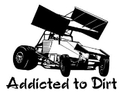 Addicted To Dirt Sprint Car Decal Sticker
