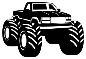 Monster Truck 2 Decal Sticker