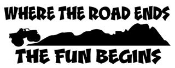 Where The Road Ends Decal Sticker