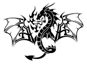 Dragon v8 Decal Sticker