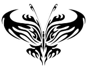 Tribal Butterfly 2 Decal Sticker