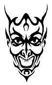 Devil Head v5 Decal Sticker
