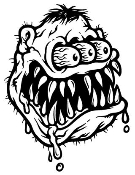 Monster Head Ratfink v2 Decal Sticker