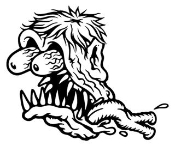 Monster Head Ratfink v3 Decal Sticker