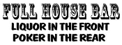 Full House Bar Decal Sticker