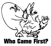 Who Came First Decal Sticker