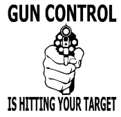 Gun Control Is Hitting Your Target Decal Sticker