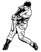 Baseball Hitter 3 Decal Sticker