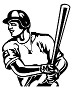 Baseball Hitter 4 Decal Sticker