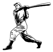 Baseball Hitter 6 Decal Sticker