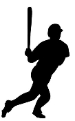 Baseball Hitter Silhouette 2 Decal Sticker
