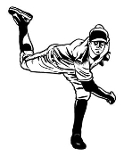 Baseball Pitcher 1 Decal Sticker