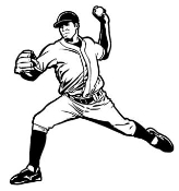 Baseball Pitcher 3 Decal Sticker