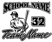 Personalized Baseball 1 Decal Sticker