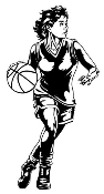 Basketball Player Girl Decal Sticker