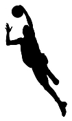 BBall Layup Silhouette v2 Decal Sticker