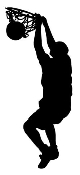 Player Dunking Silhouette v1 Decal Sticker