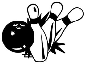 Bowling Ball Hitting Pins 2 Decal Sticker