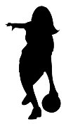 Female Bowler Silhouette 2 Decal Sticker