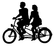 Tandem Bicycle Decal Sticker