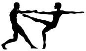 2 Dancers Silhouette v1 Decal Sticker