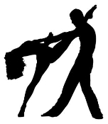2 Dancers Silhouette v4 Decal Sticker