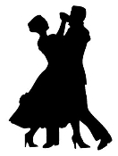 Ballroom Dancers Silhouette Decal Sticker
