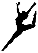 Dancer Silhouette v2 Decal Sticker