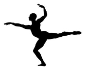 Dancer Silhouette v6 Decal Sticker