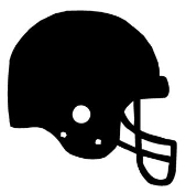 Football Helmet v2 Decal Sticker